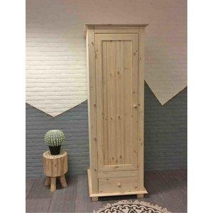 1-deurskast met lade (kies uw deur) 60 of 66 cm breed