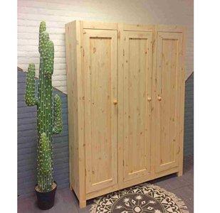 3-deurskast strak (kies uw deur)150cm breed