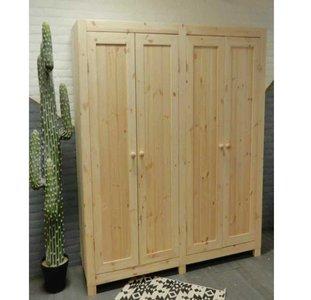 4-deurskast strak (kies uw deur) 181 of 204cm breed
